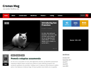 CronusMag Free Wordpress Theme For Download